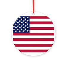 US Flag Ornament (Round)