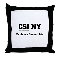 CSI NY Evidence Throw Pillow