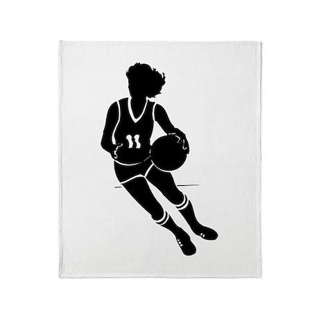 BASKETBALL *61* {black} Throw Blanket