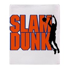 SLAM DUNK *2* {orange/blue} Throw Blanket