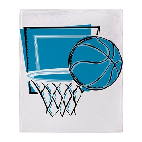 BASKETBALL *52* {blue} Throw Blanket
