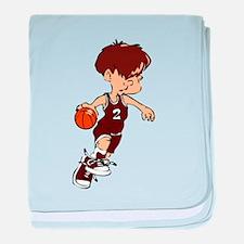 BASKETBALL *40* {crimson} baby blanket