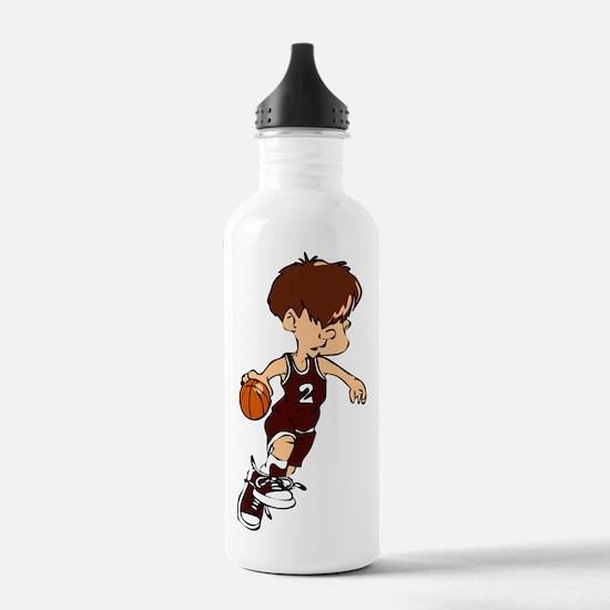 BASKETBALL *40* {crimson} Water Bottle