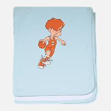 BASKETBALL *40* {lt orange} baby blanket