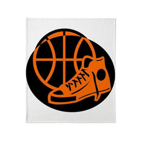 BASKETBALL *32* [orange} Throw Blanket