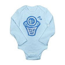 BASKETBALL *13* {blue} Long Sleeve Infant Bodysuit