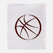 BASKETBALL *6* {crimson 4} Throw Blanket