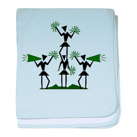 CHEER *29* {green} baby blanket