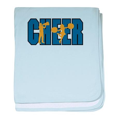 CHEER *15* {blue/gold} baby blanket