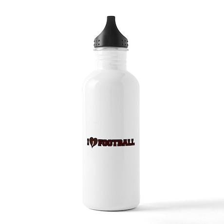FOOTBALL *38* {crimson} Stainless Water Bottle 1.0