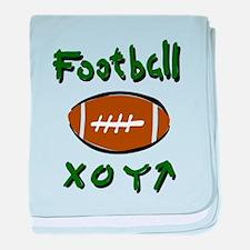 FOOTBALL *33* {green} baby blanket