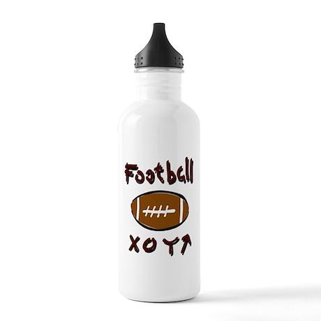 FOOTBALL *33* {crimson} Stainless Water Bottle 1.0