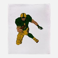 FOOTBALL *29* {green/gold} Throw Blanket