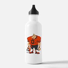 FOOTBALL *27* {orange/gray} Water Bottle