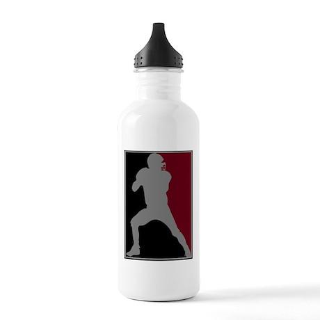 FOOTBALL *26* {crimson/blk/gr Stainless Water Bott