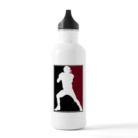 FOOTBALL *26* {crimson/white} Stainless Water Bott