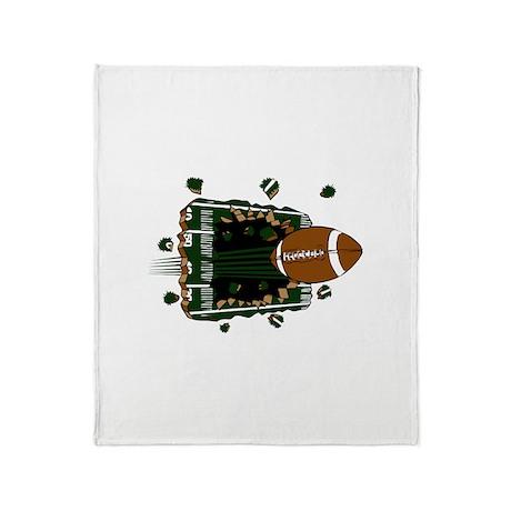 FOOTBALL *24* {green} Throw Blanket