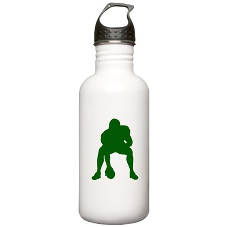FOOTBALL *23* {green} Stainless Water Bottle 1.0L