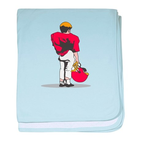 FOOTBALL *22* {red/white} baby blanket