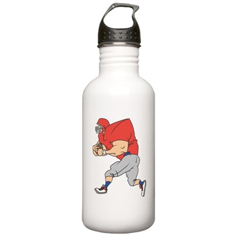 FOOTBALL *19* {red/gray} Stainless Water Bottle 1.