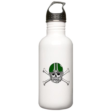FOOTBALL *15* {green} Stainless Water Bottle 1.0L