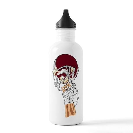 FOOTBALL *13* {crimson} Stainless Water Bottle 1.0