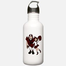 FOOTBALL *9* {crimson} Water Bottle