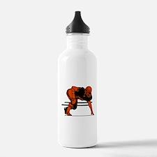 FOOTBALL *6* {orange} Water Bottle