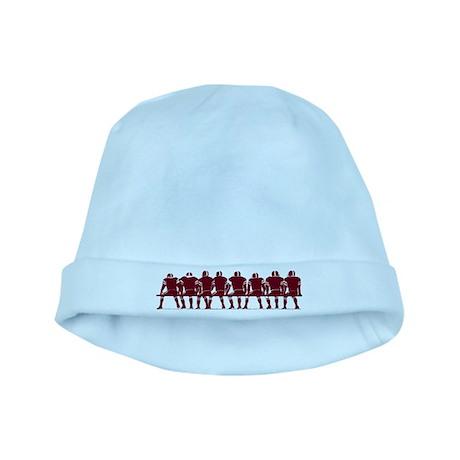 FOOTBALL *4* {crimson} baby hat
