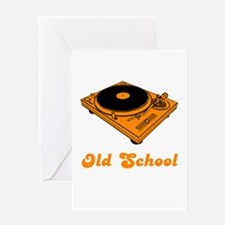 Old School Turntable Greeting Card