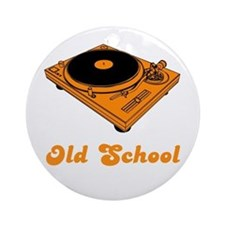 Old School Turntable Ornament (Round)