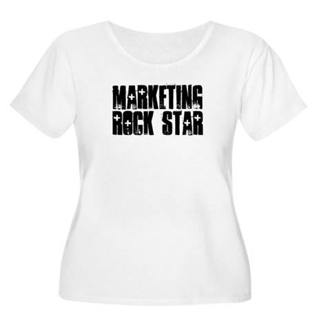 Marketing Rock Star Women's Plus Size Scoop Neck T