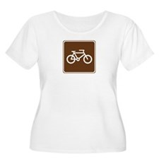 Bicycle Trail Sign T-Shirt