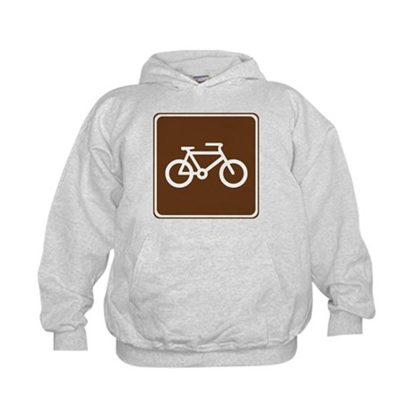 Bicycle Trail Sign Kids Hoodie