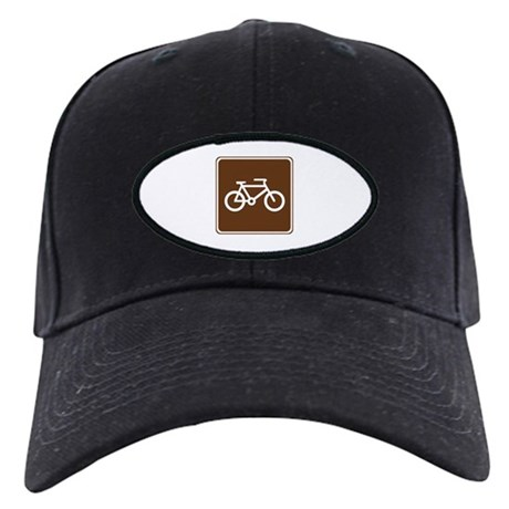 Bicycle Trail Sign Black Cap