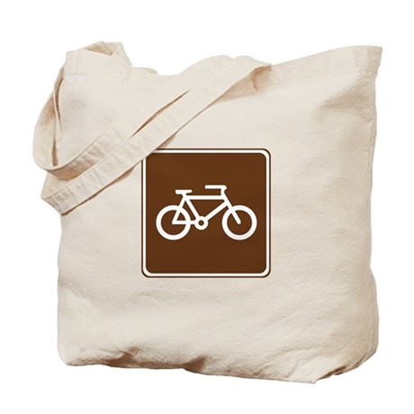 Bicycle Trail Sign Tote Bag