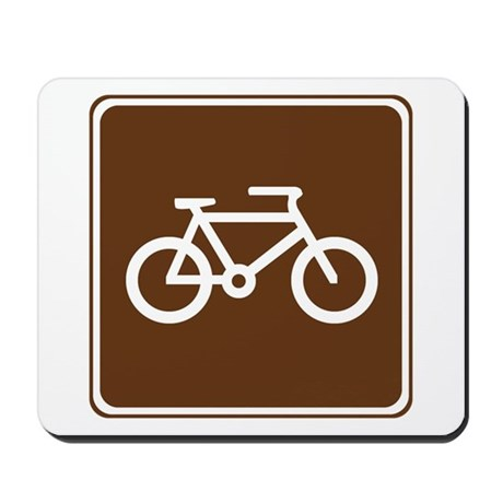 Bicycle Trail Sign Mousepad