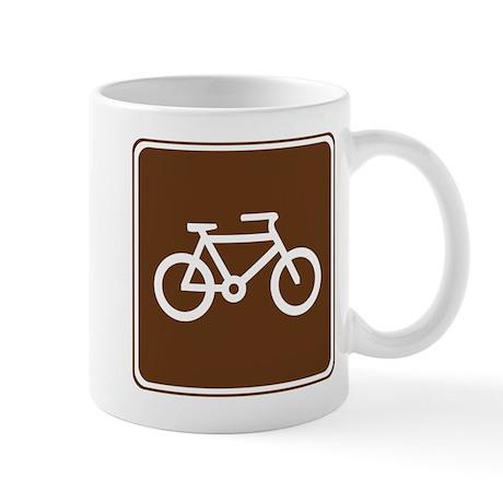 Bicycle Trail Sign Mug