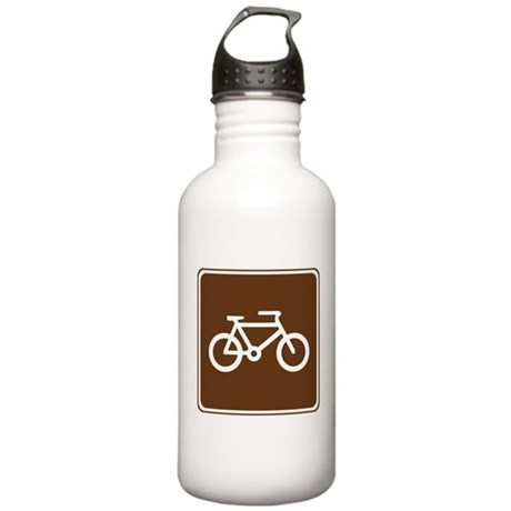 Bicycle Trail Sign Stainless Water Bottle 1.0L