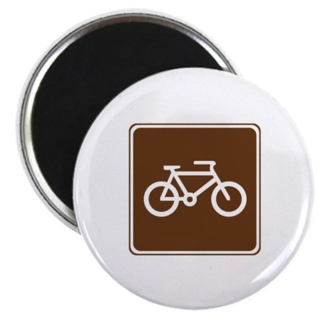 """Bicycle Trail Sign 2.25"""" Magnet (10 pack)"""