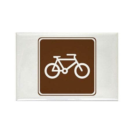 Bicycle Trail Sign Rectangle Magnet (10 pack)