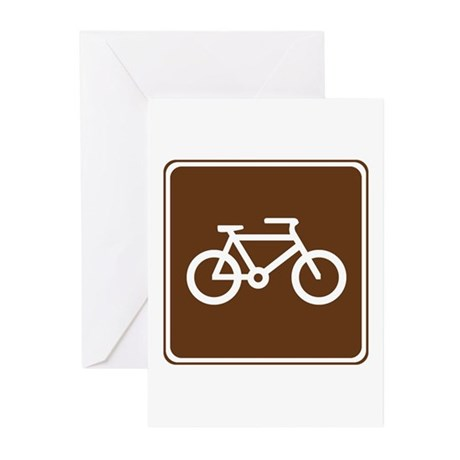 Bicycle Trail Sign Greeting Cards (Pk of 20)