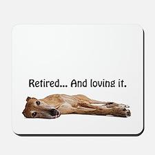 Greyhound Retired Mousepad