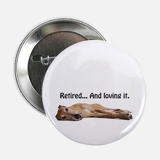 """Greyhound Retired 2.25"""" Button"""