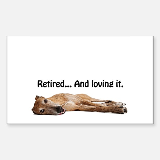 Greyhound Retired Sticker (Rectangle)