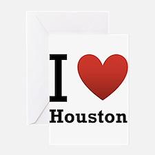 I Love Houston Greeting Card