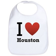 I Love Houston Bib