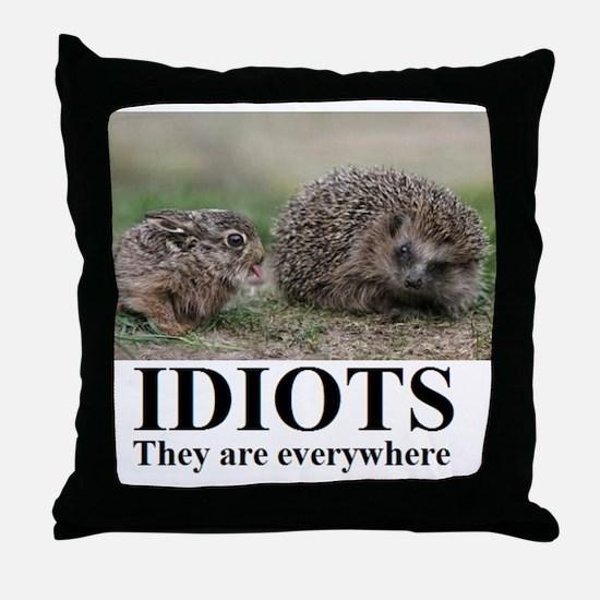 Cute Stupidity Throw Pillow