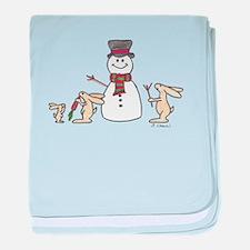 Funny Rabbit rescue baby blanket