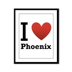 I Love Phoenix Framed Panel Print